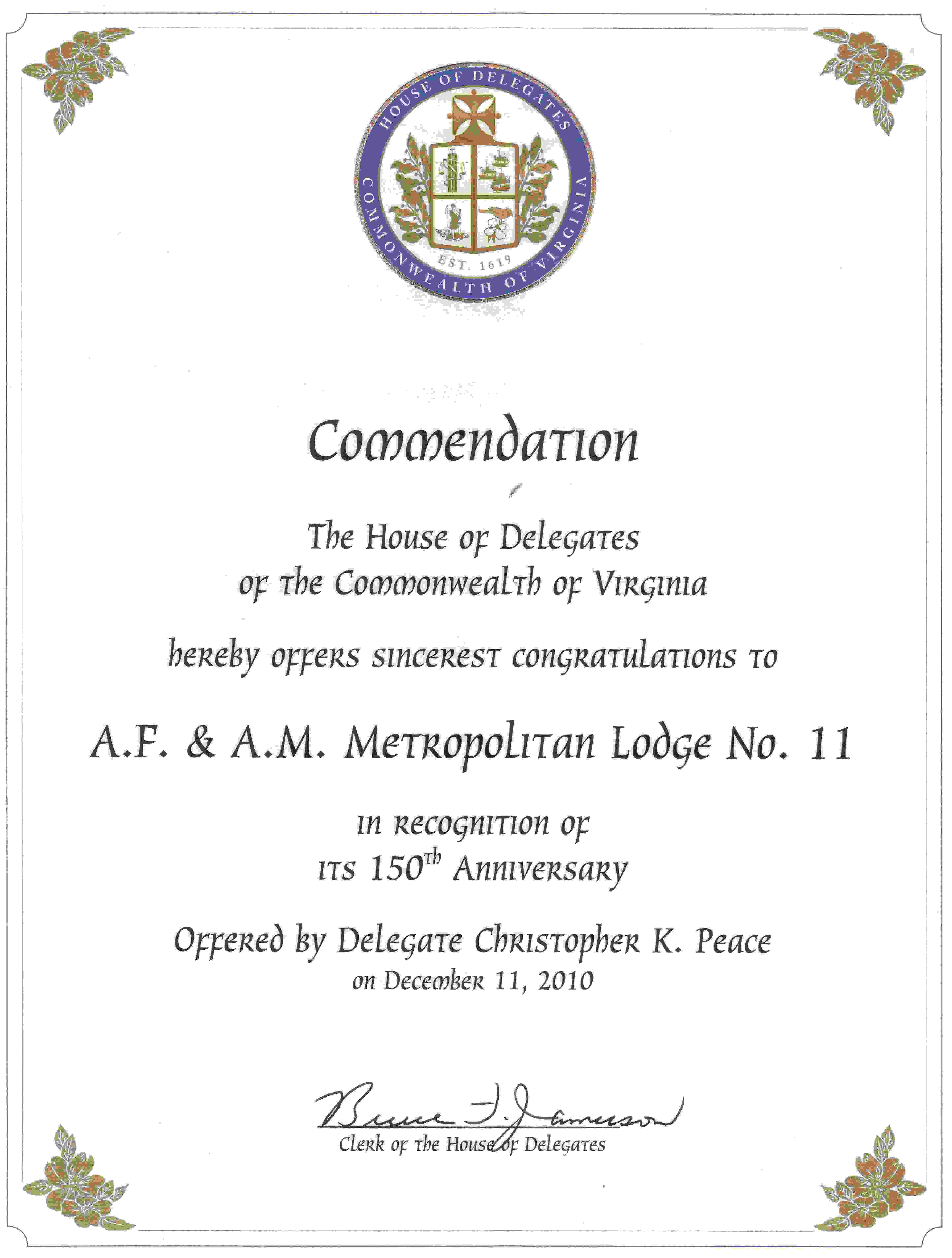 150th Anniversary Committee